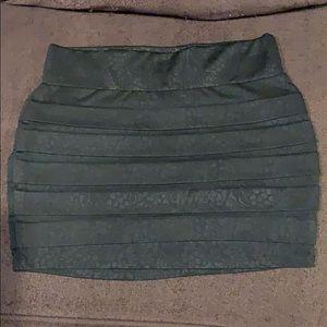 Wet Seal bandage skirt black